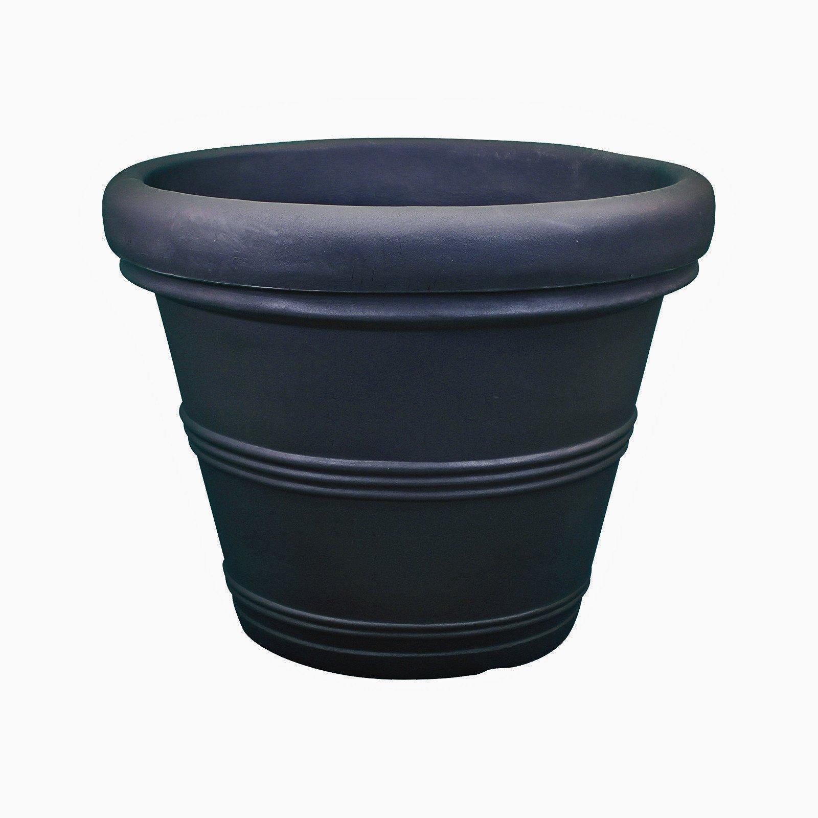 Rolled Rim Traditional Planter - Plastic