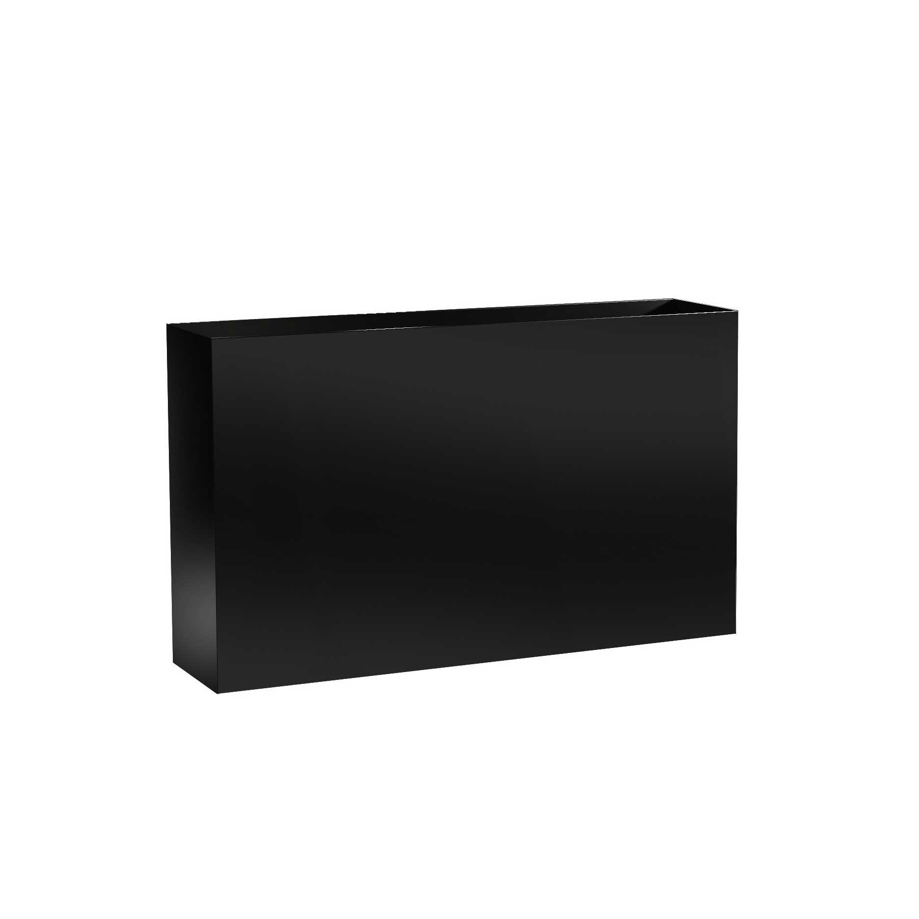 Modern Metal Planter Boxes - Aluminum - 24' Tall, (32'/36'/40' Length, 10' Width)