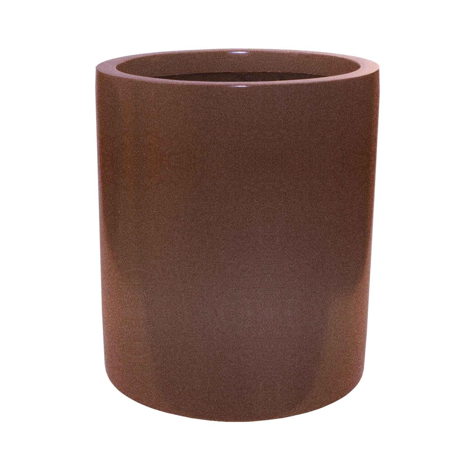 Modern Tall Cylinder Planter - Fiberglass - 18'/22' Diameters