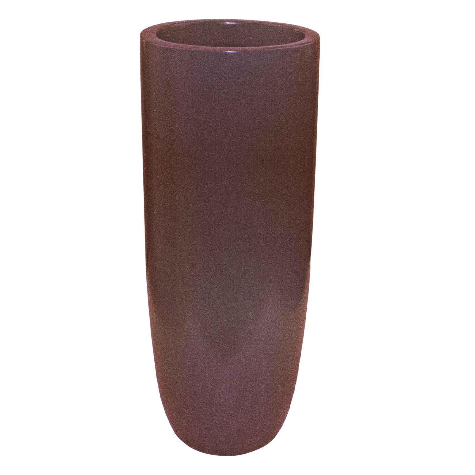 Saint Tropez Indoor & Outdoor Tapered Vase Planter - 12'x12'x32' / Lemon - Glossy Finish - Round Planter Pots - Jay Scotts Collection - Pots Planters & More - 1  Saint Tropez Indoor & Outdoor Tapered Vase Planter - 12'x12'x32' / Ebony - Matte Finish