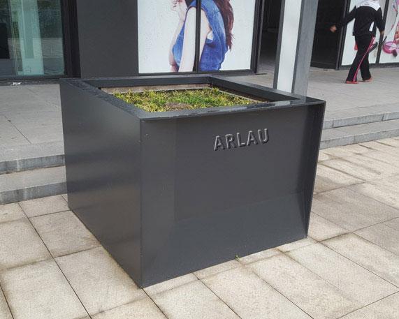 FB32 - corten steel irregular metal planter