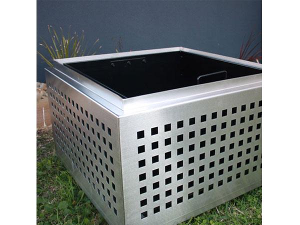 FB34 - corten steel irregular metal planter